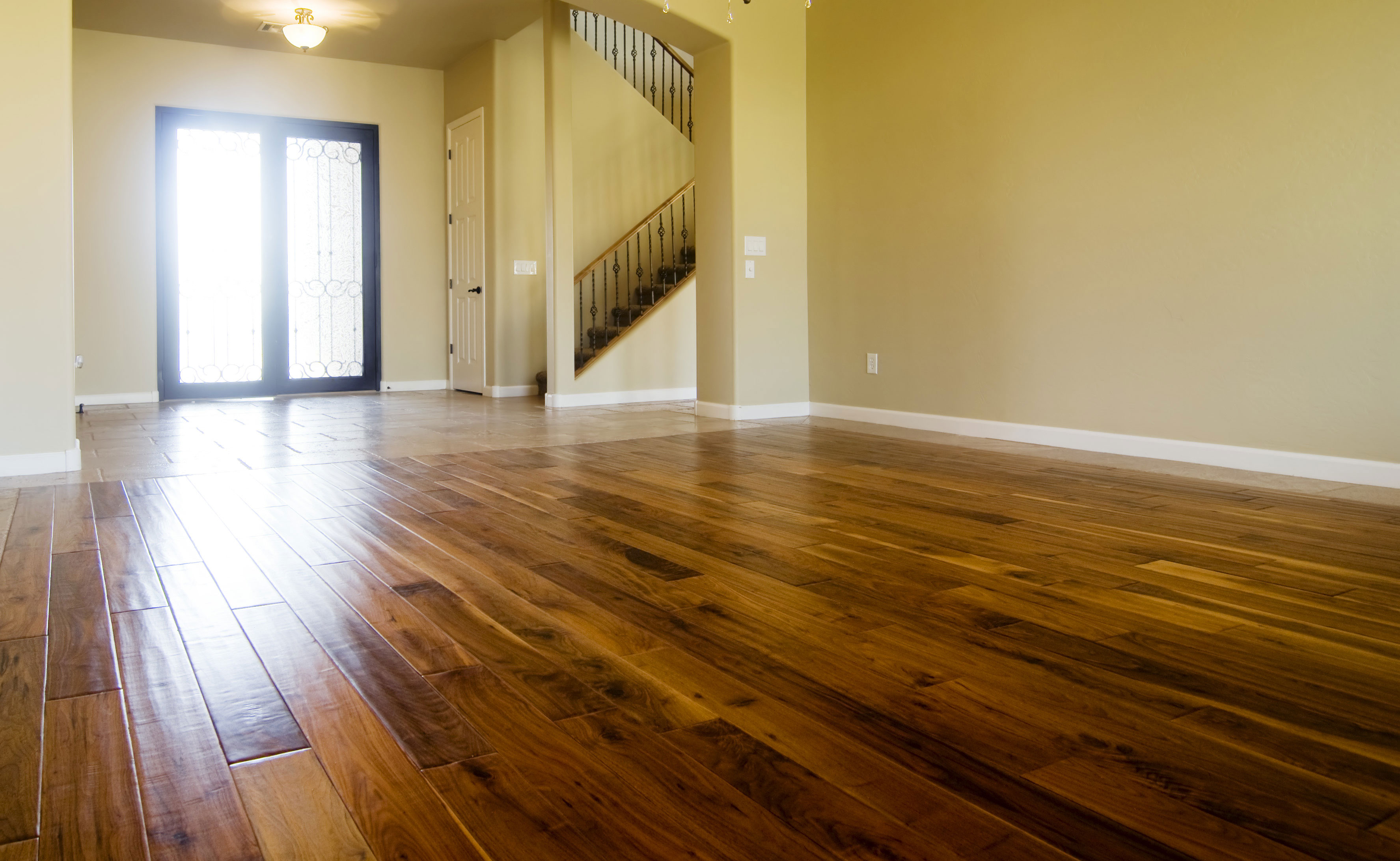 Installed hardwood Floor